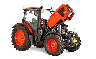 Traktor Kubota MGX-IV - Pohled na otevřenou kapotu motoru